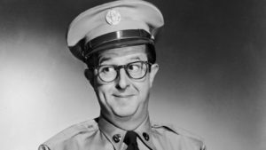 Phil Silvers as Seargent Bilko in The Phil Silvers Show